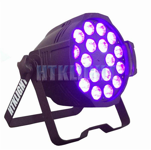 6 -In-1 18 Led Rgb Par Can Dj Stage Dmx Lighting 18*12W With Die Cast Aluminum Housing