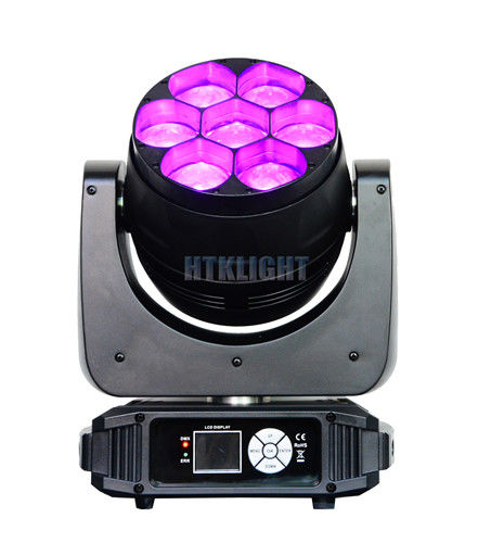 7 x 40W RGBW 4 in1 Osram LED Wash Moving Head Disco Lights High Brightness