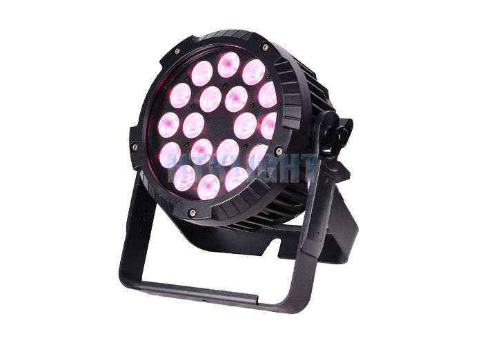 DMX512 Waterproof LED Par Light / 18X10w Rgbw 4 In 1 LED Par Lamp